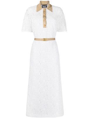 Lace Midi Dress With Contrast Trim