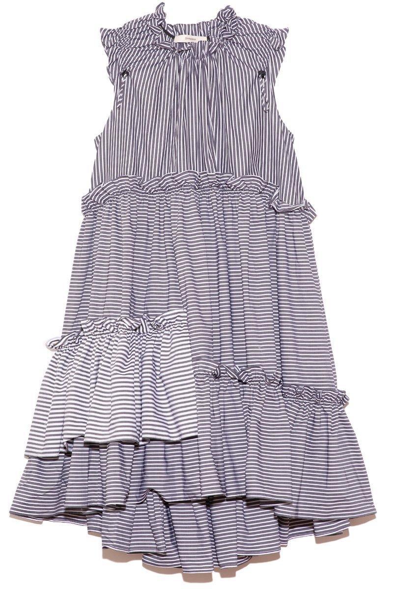 Evelyn Striped Dress Item # SS21-010-A