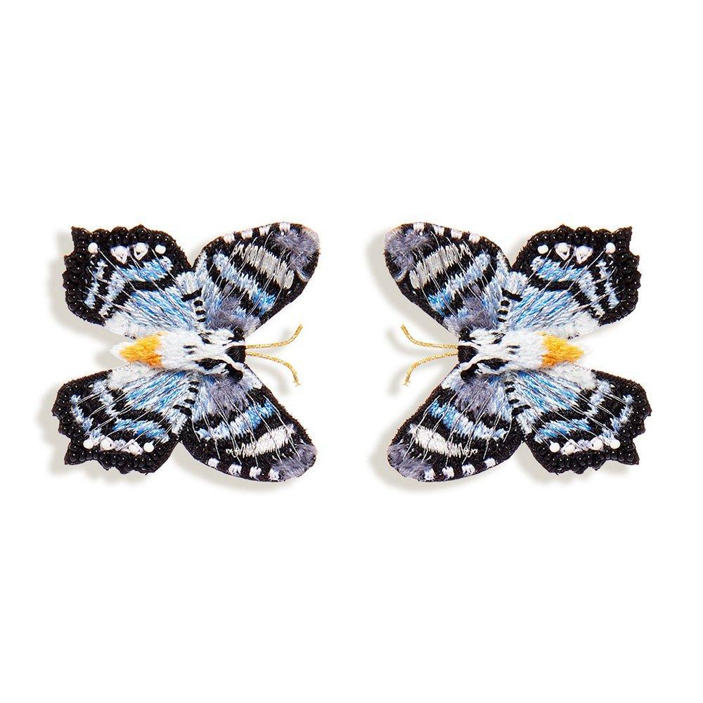 Gray Cliff Butterfly Stud Earrings Item # E216-480S
