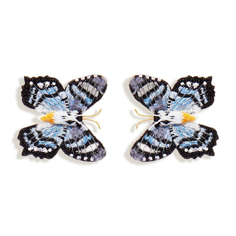 Gray Cliff Butterfly Stud Earrings