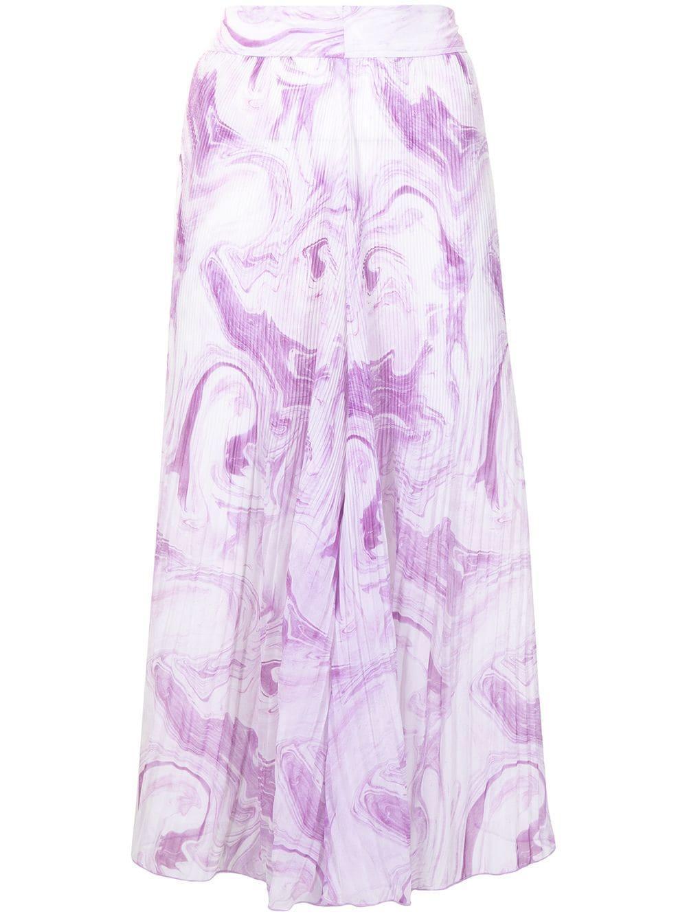 Pleated Georgette Midi Skirt Item # F5859