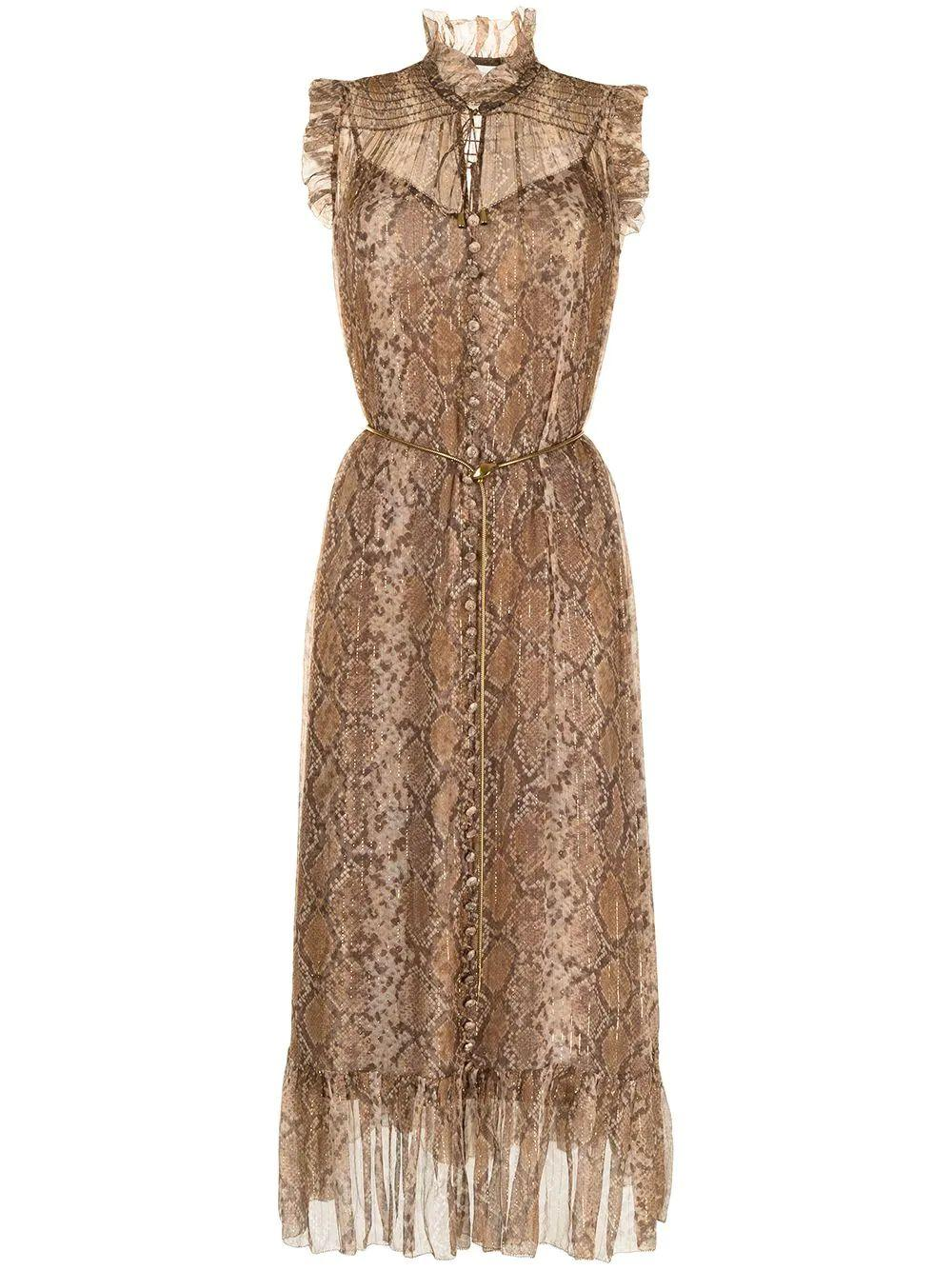 Botanica Python Swing Midi Dress