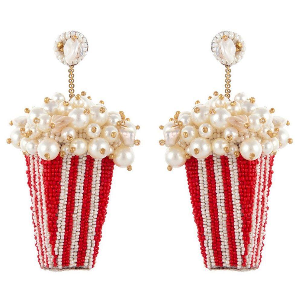 Popcorn Earrings Item # ERL4773RED