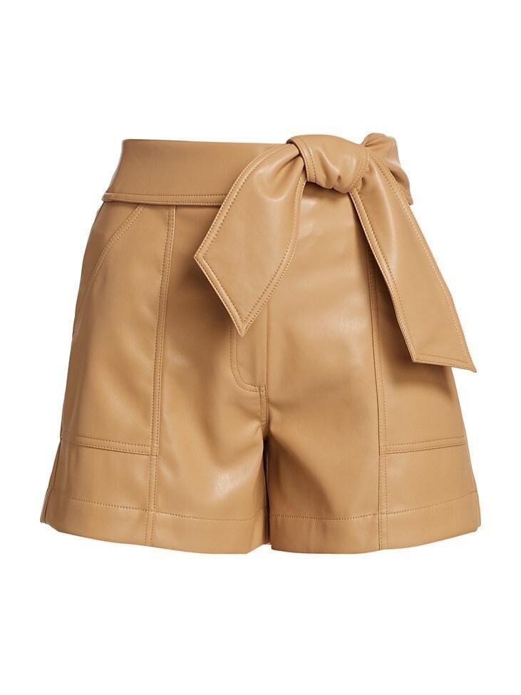 Mari Vegan Leather Shorts