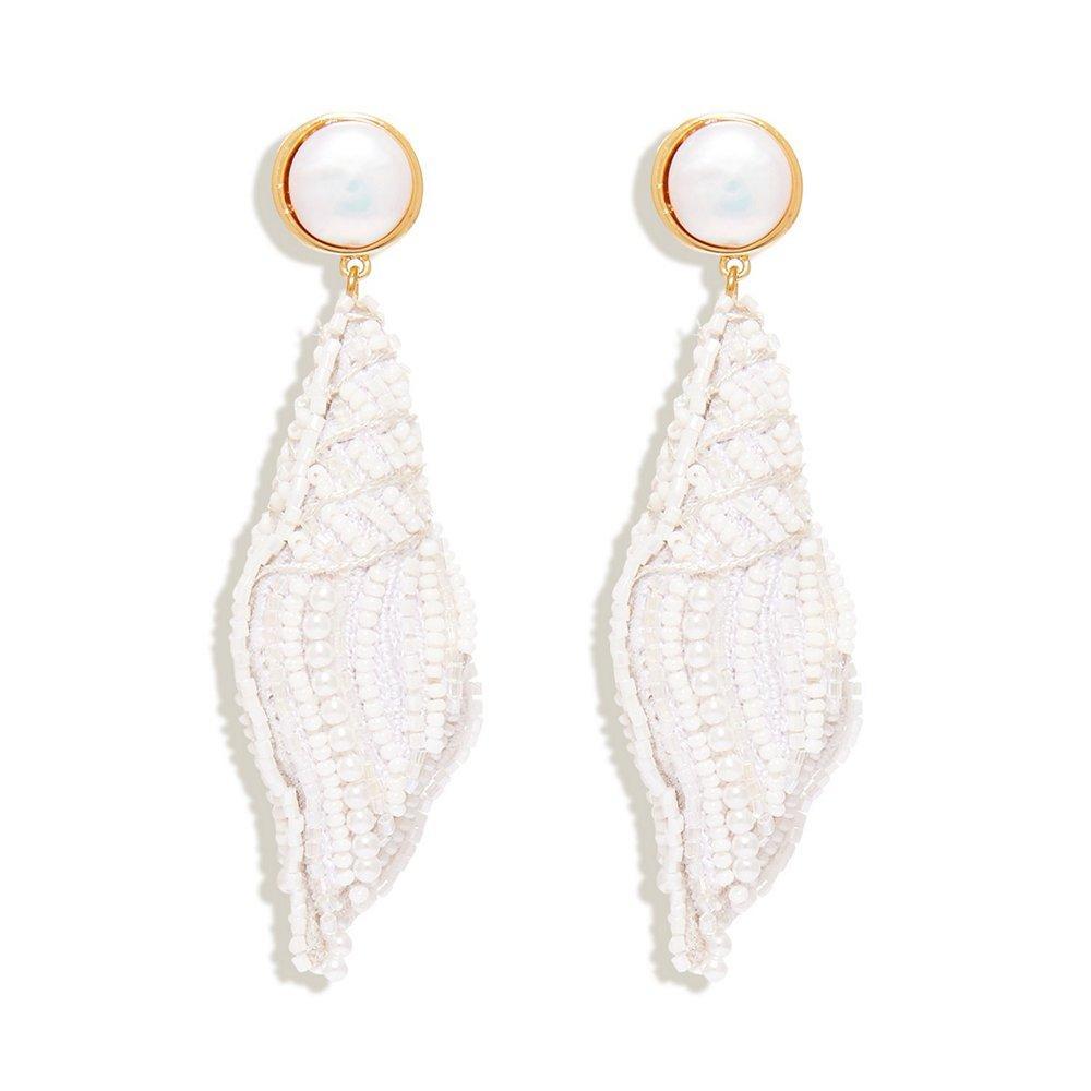 Nell Seashell Drop Earrings