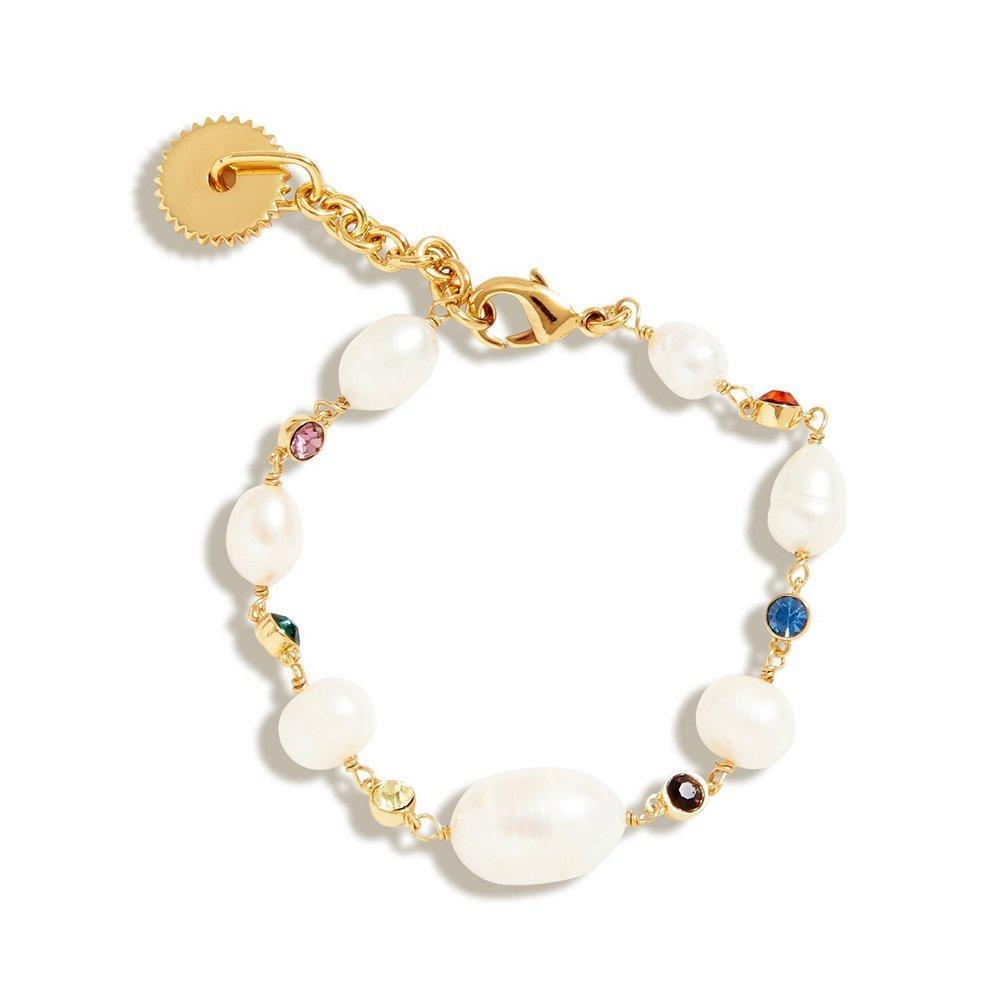 Lyford Mized Rainbow Pearl Bracelet