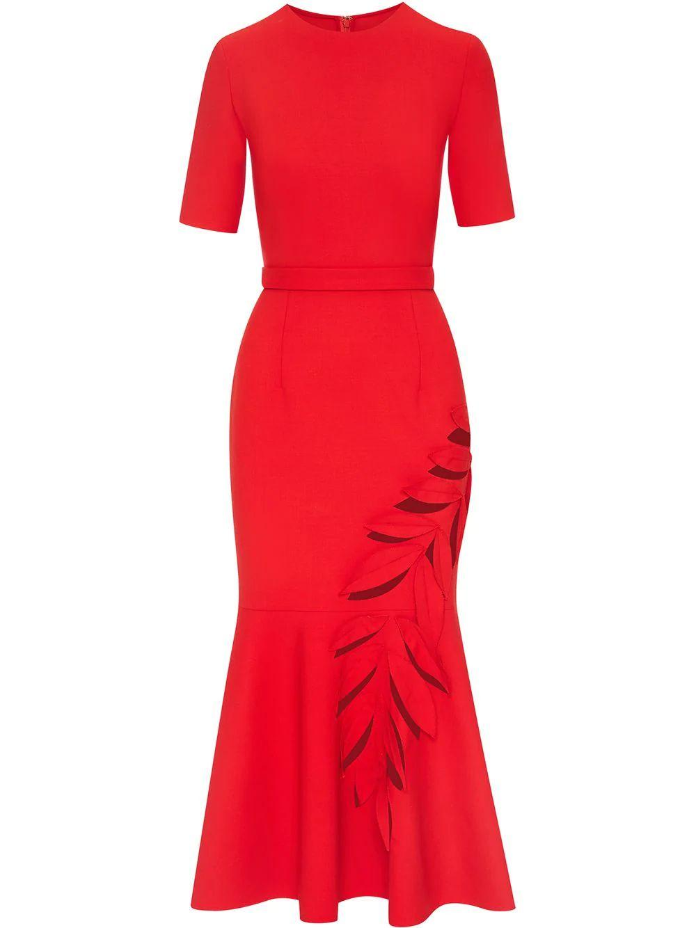 Cut-Out Detail Midi Dress