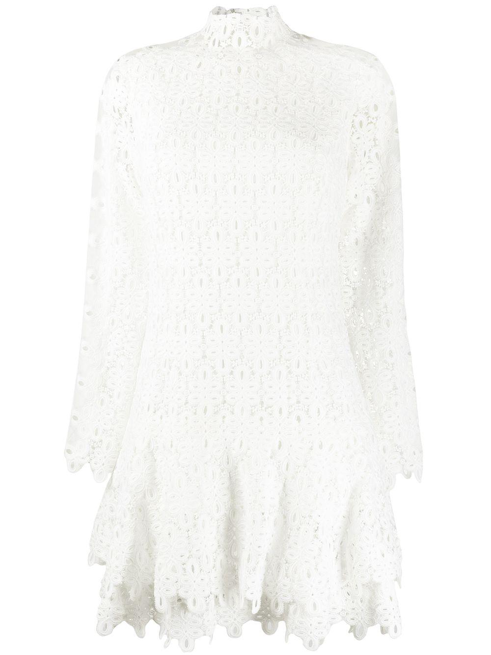 Gipure Lace Mini Dress