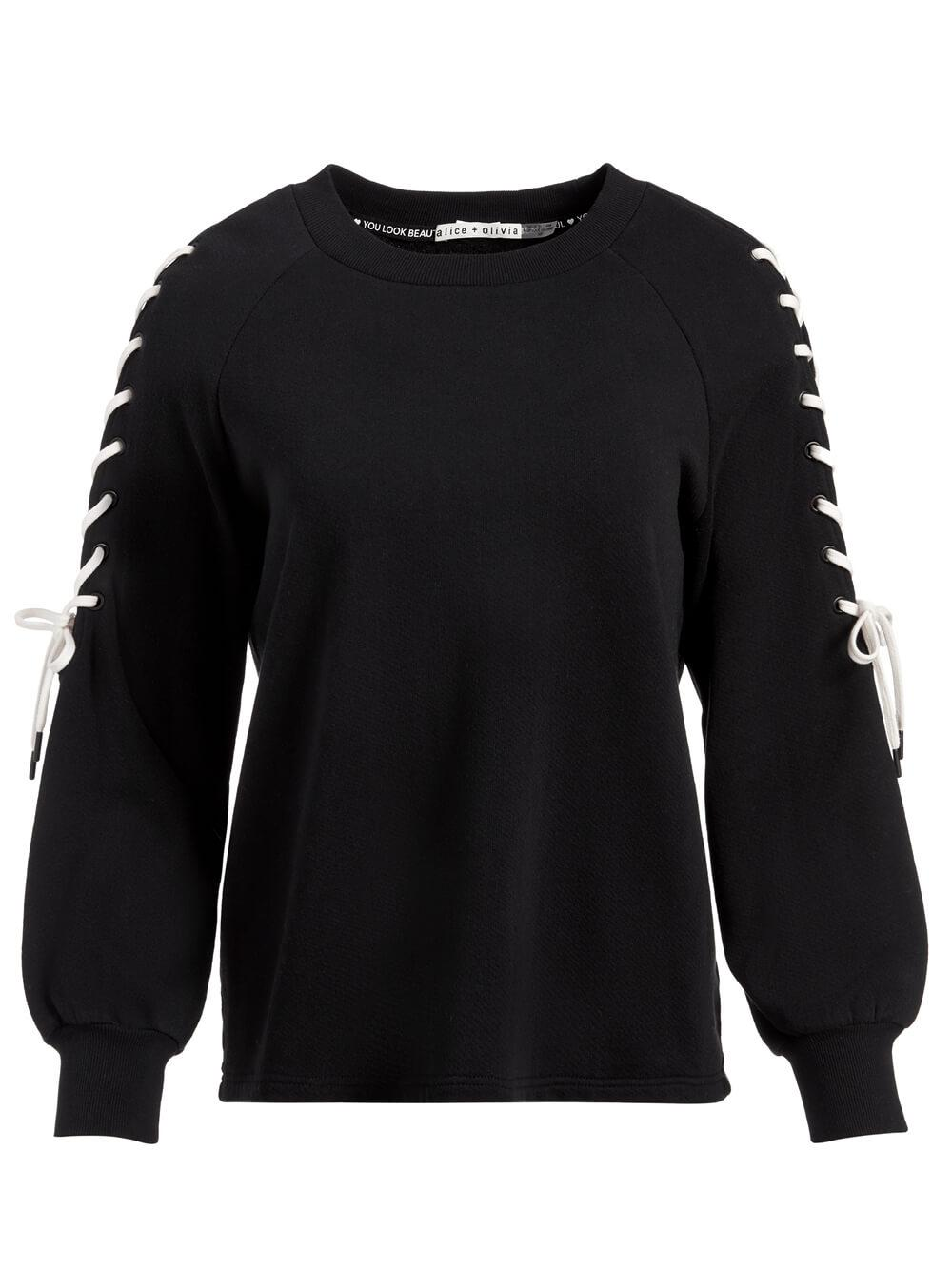 Charlotte Lace Up Sweatshirt Item # CC103W40009