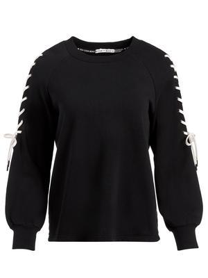 Charlotte Lace Up Sweatshirt