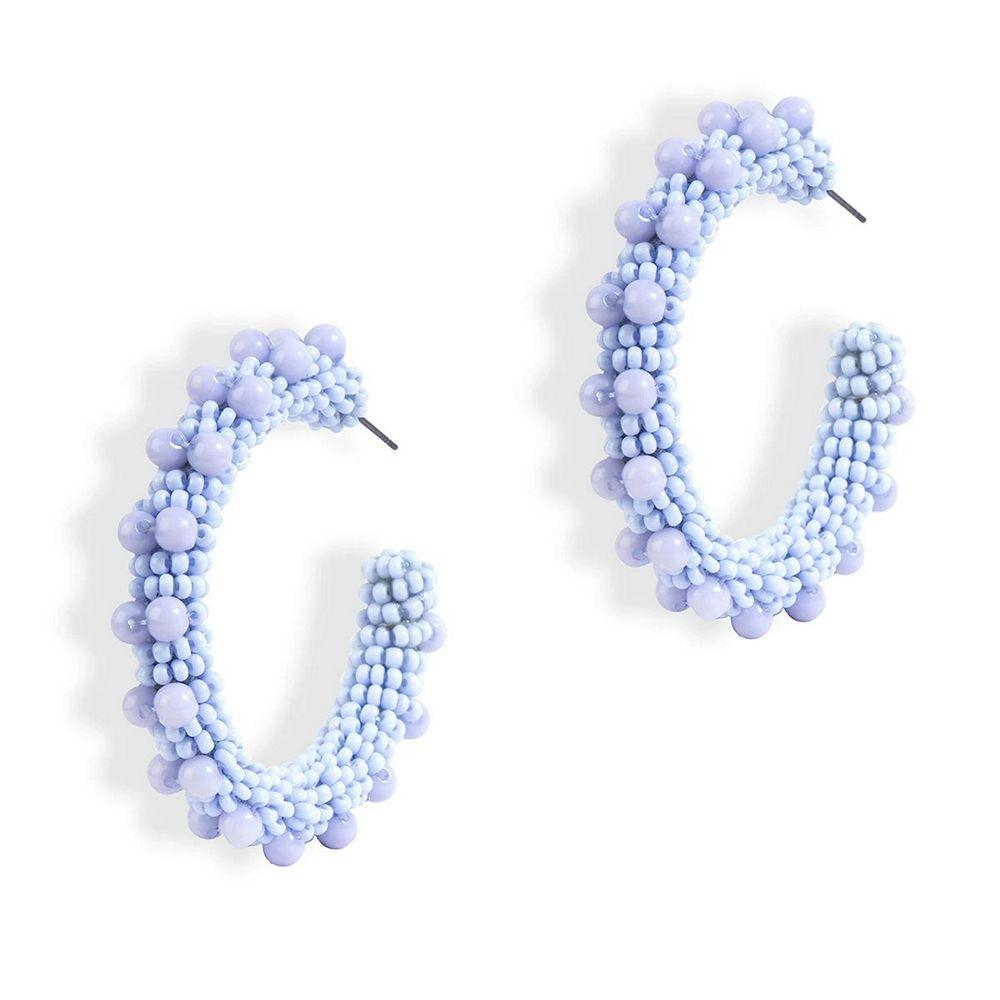 Vidya Beaded Hoop Earrings