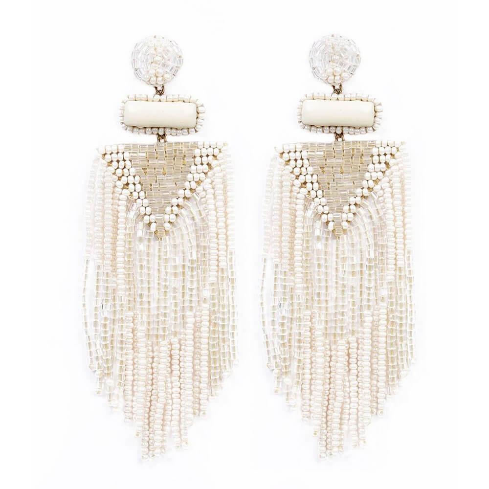 Jody Fringe Earrings Item # ID0086IVR
