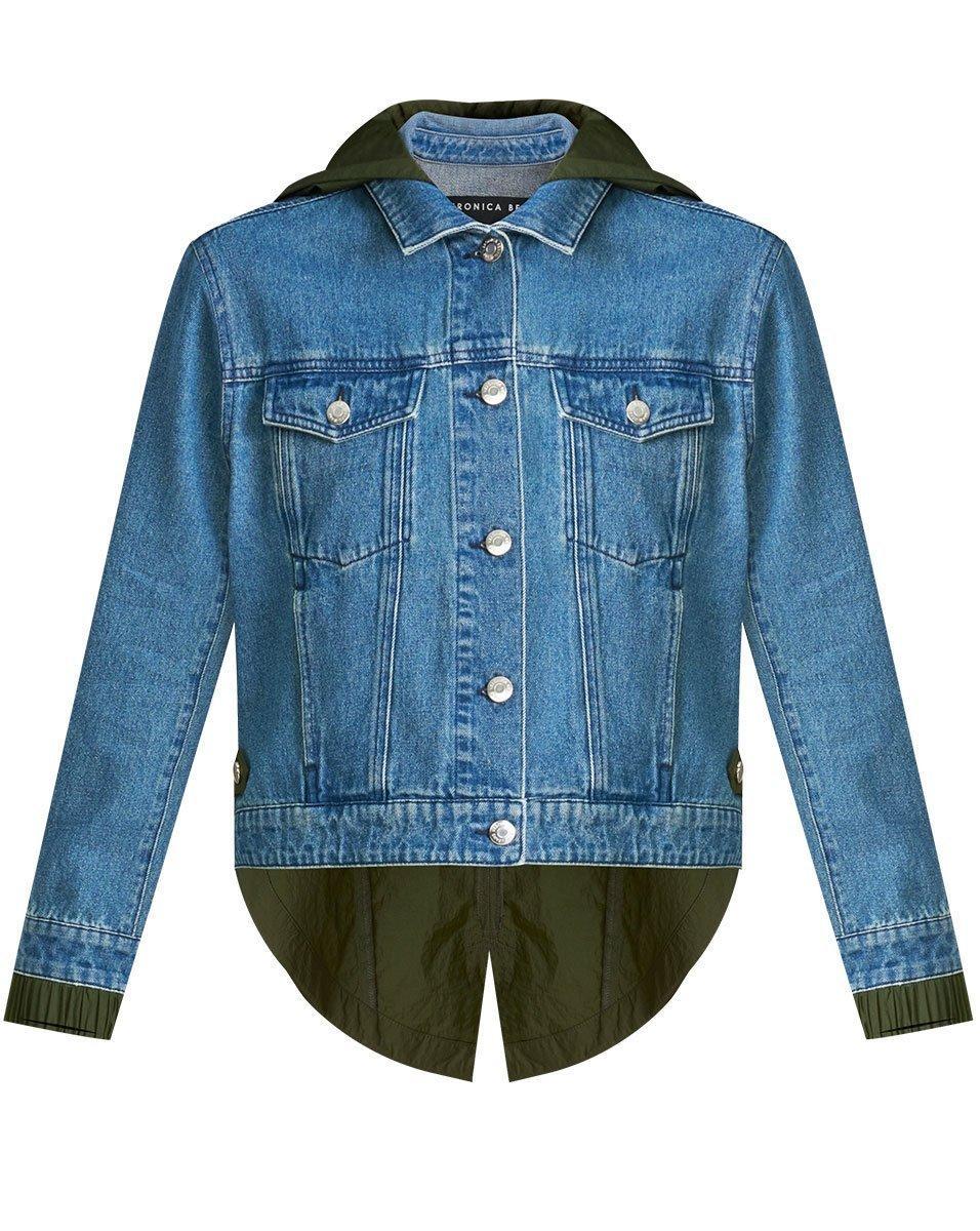 Shani Mixed Media Denim Jacket