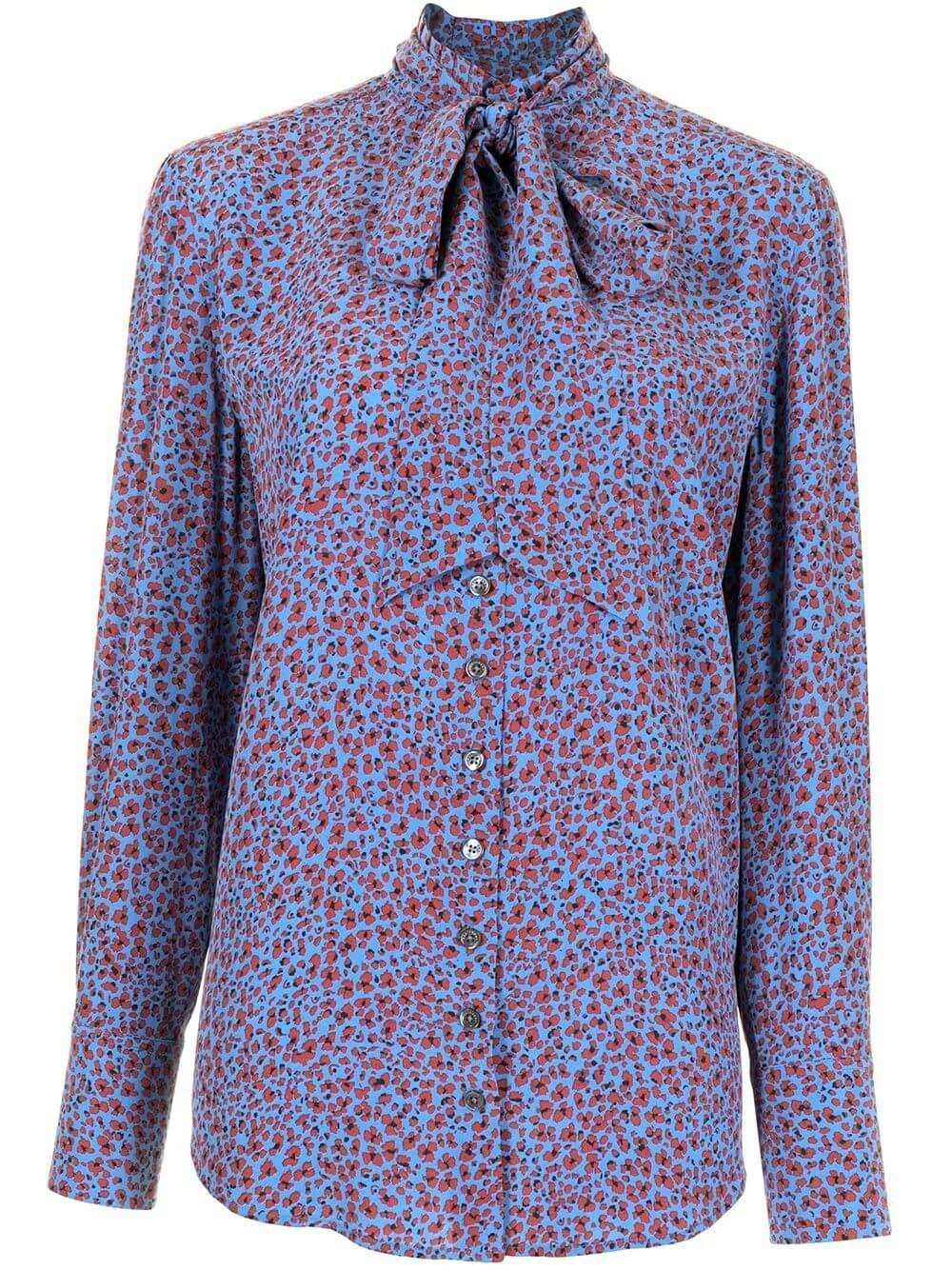Olexa Floral Print Blouse Item # 21-1-008335-TP04617
