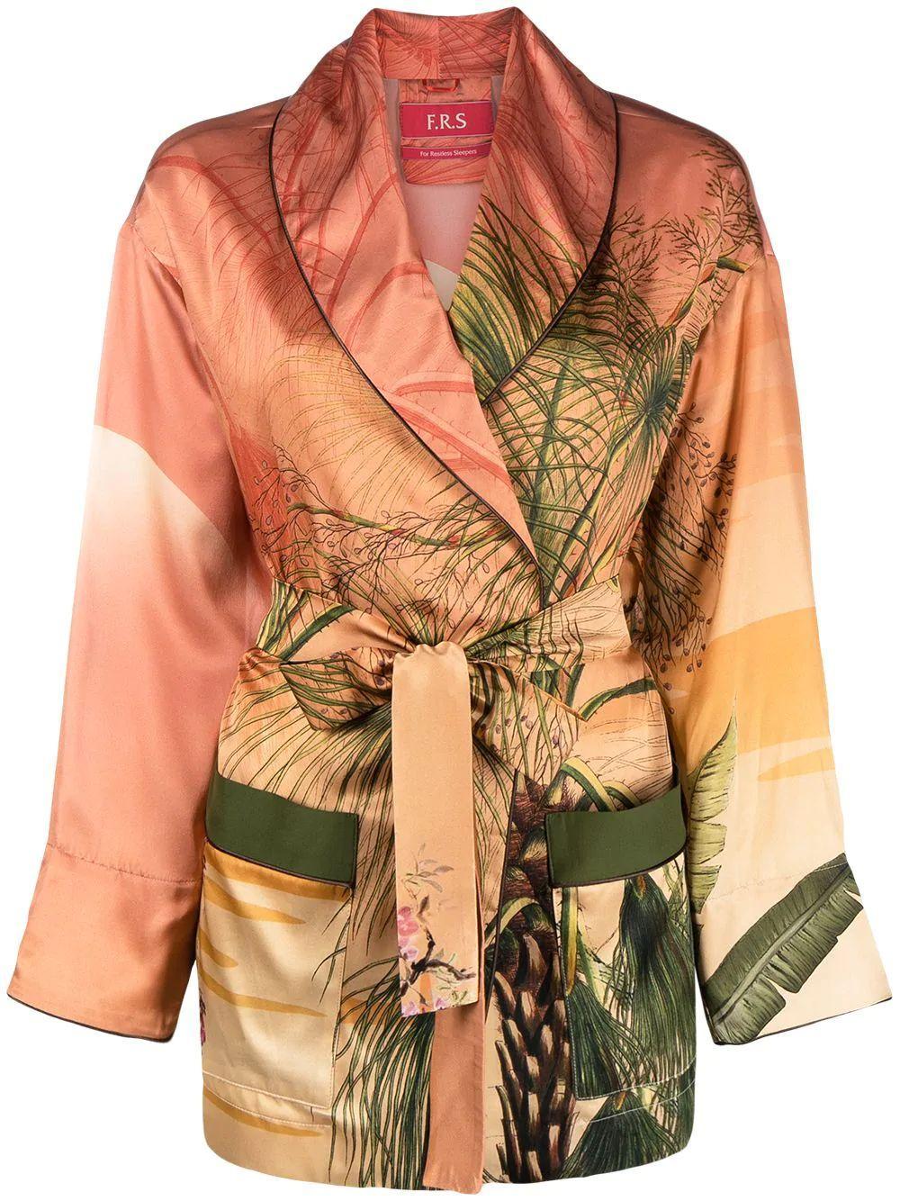 Agnizione Wrap Silk Jacket Item # GA000328-TE00553-219