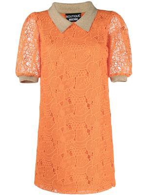 Collared Lace Mini Dress