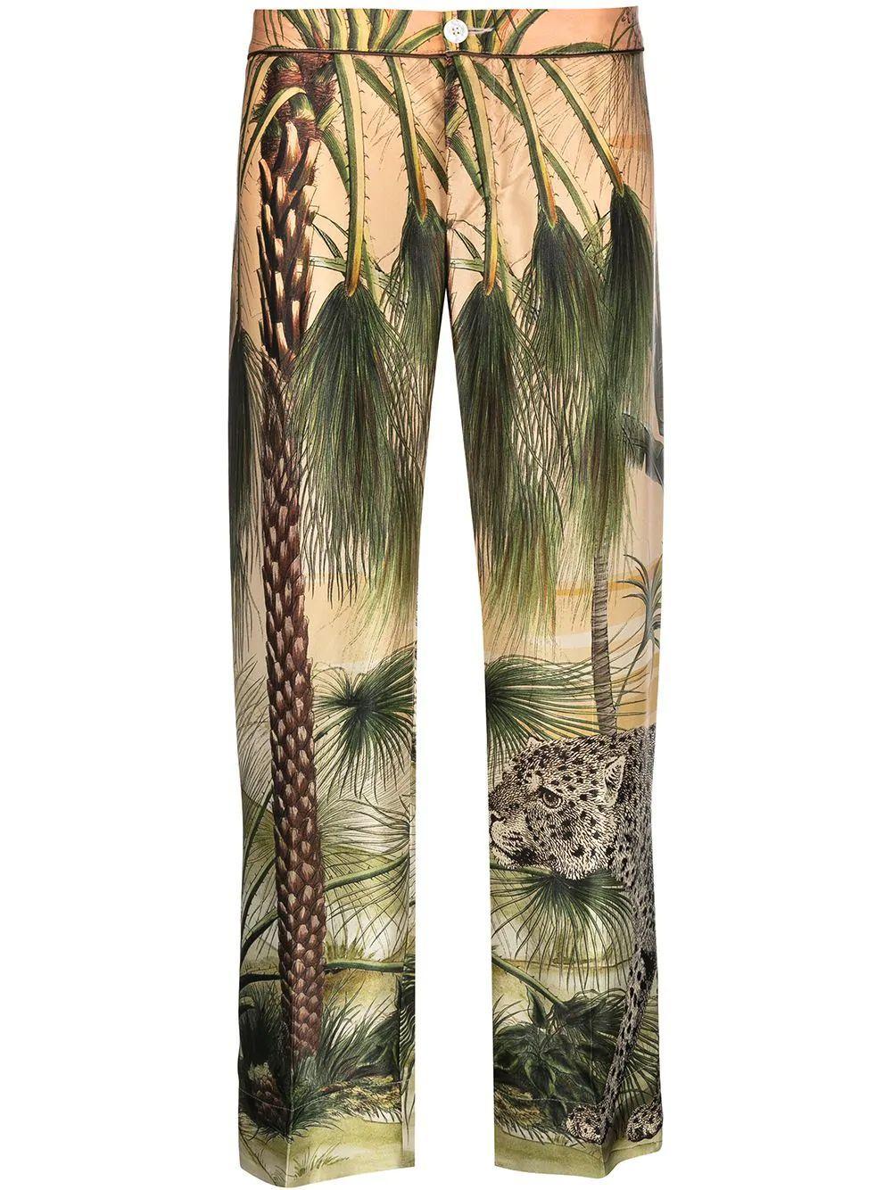 Ceo Jungle Print Pants Item # PA002073-TE00553-219