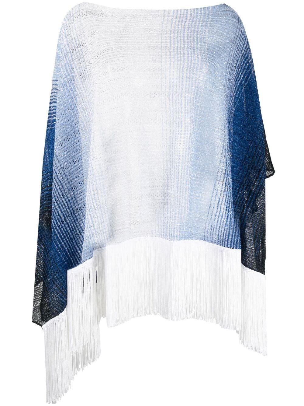 Ombre Poncho With Fringe