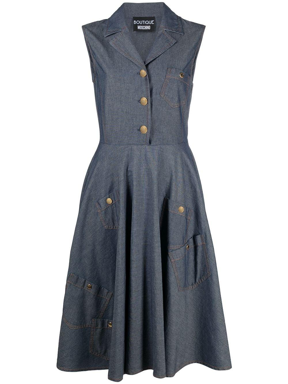 Denim Dress With Full Skirt