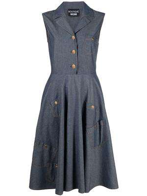 Denim Dress With Full Skirt