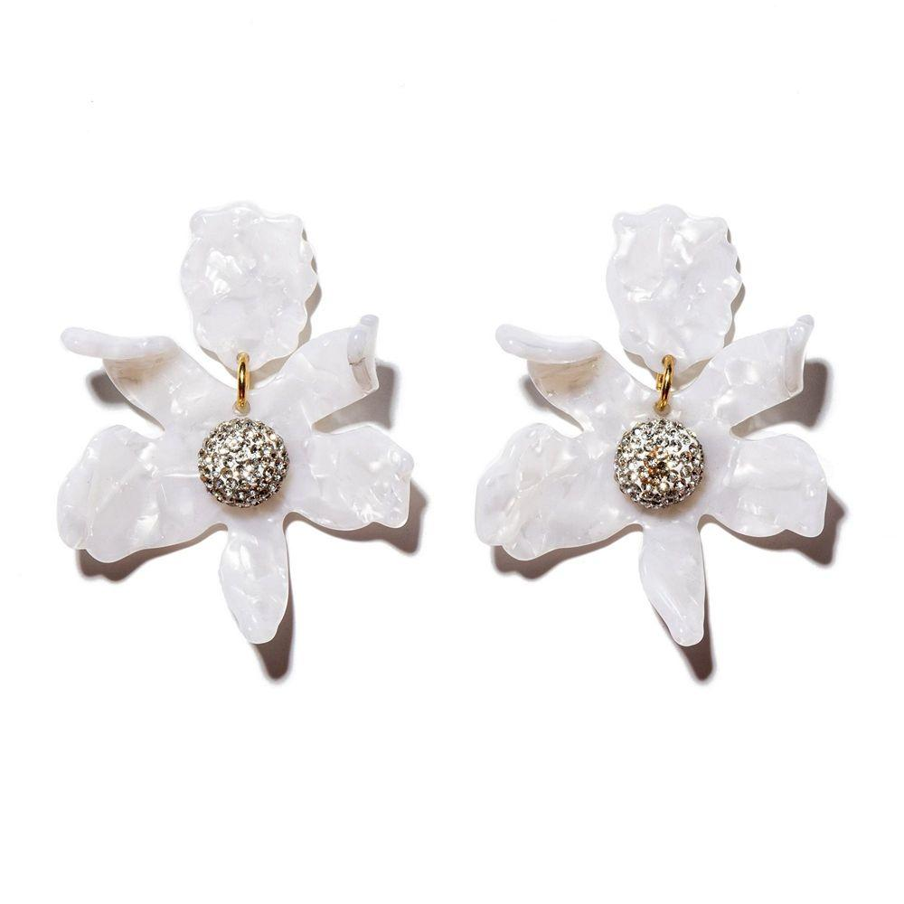 Crystal Lily Earrings Item # LS0349MP-P-S21