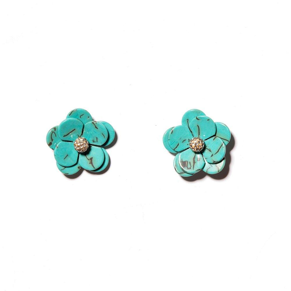 Poppy Button Earrings