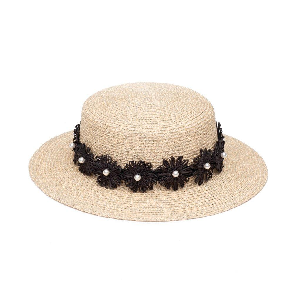 Brigitte Boater Hat Item # 21001-16221