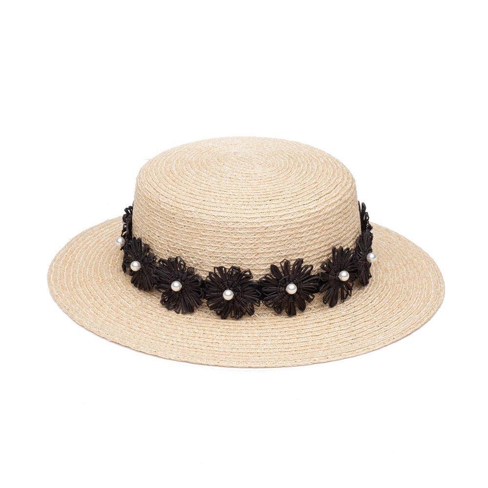 Brigitte Boater Hat