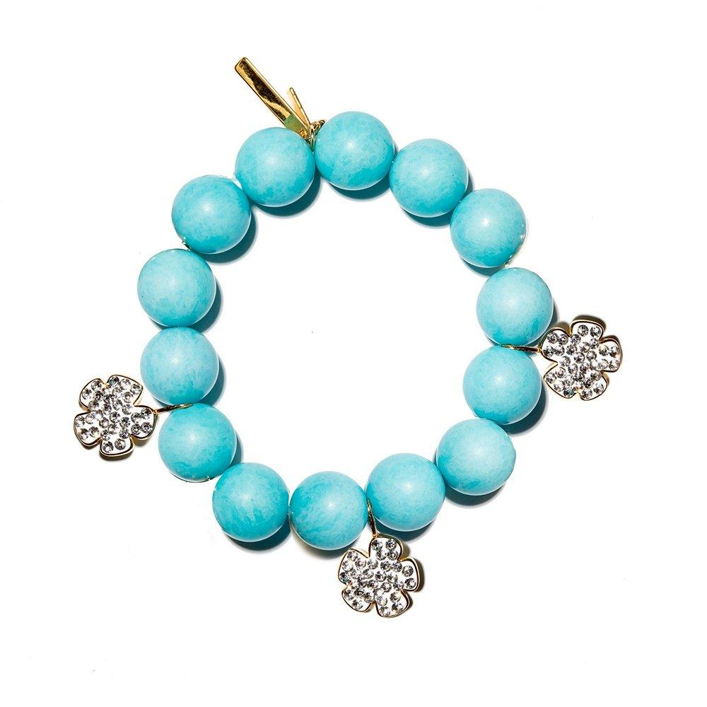 Pave Floral Country Club Bracelet Item # LS1134TS