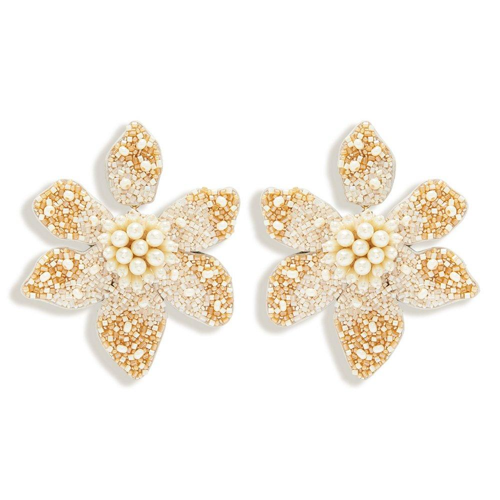 Camellia Pearl Earrings Item # E255-100
