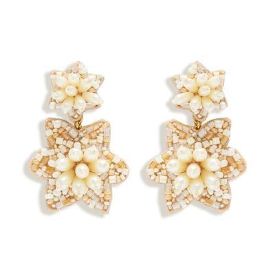 Camellia Pearl Drop Earrings