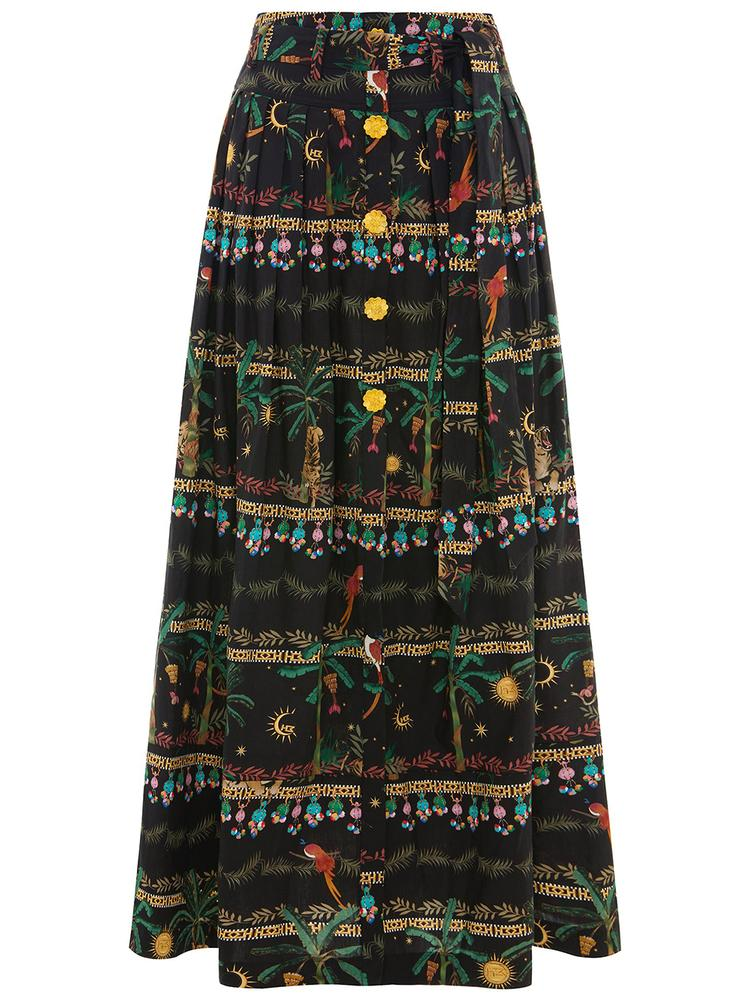 Midnight Safari Maxi Skirt
