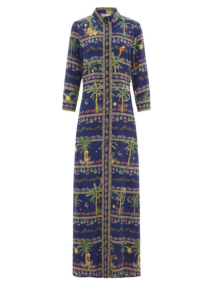 Twilight Safari Maxi Dress Item # MIDAXI PANEL DRESS