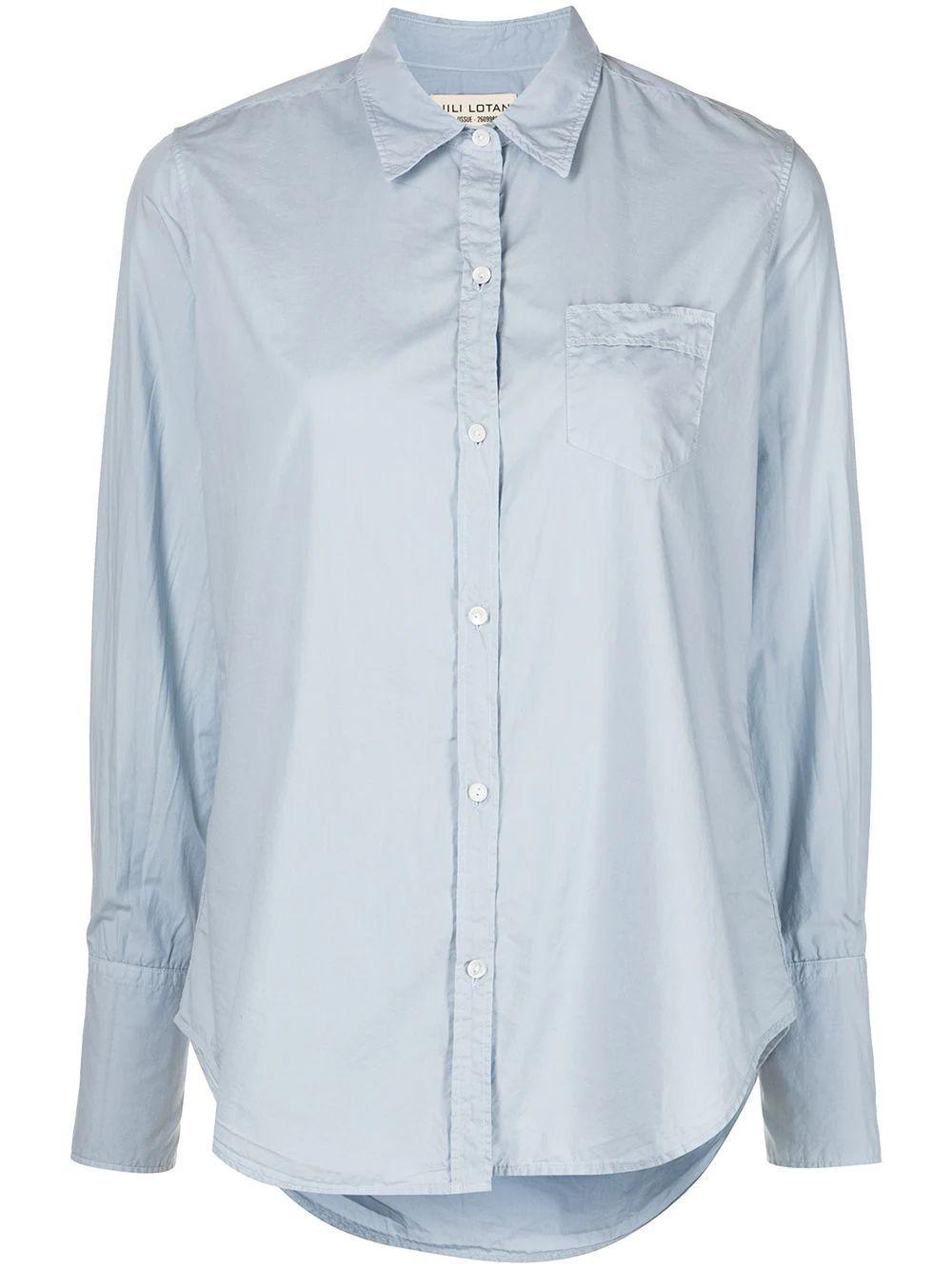 Button Down Poplin Shirt Item # 00090-W154