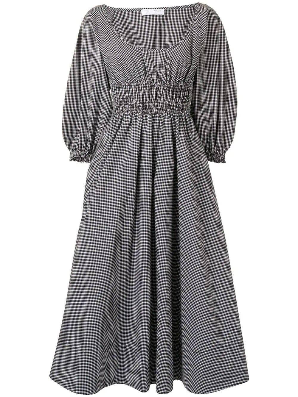 Full Sleeve Plaid Dress Item # WL2123164