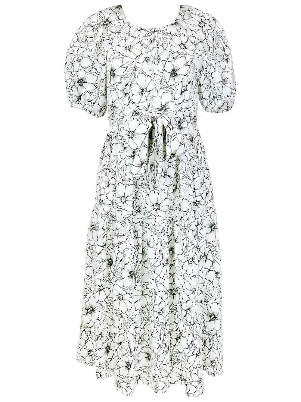 Audrey Etched Floral Dress