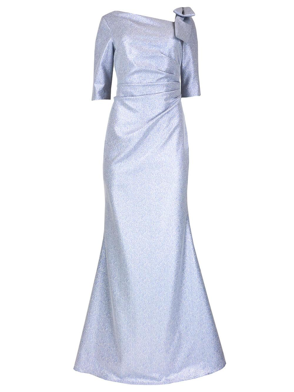 Bow Shoulder Detail Gown Item # 219036