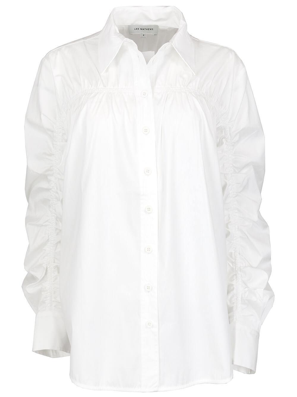 Victoria Gathered Shirt Item # M2101TO188