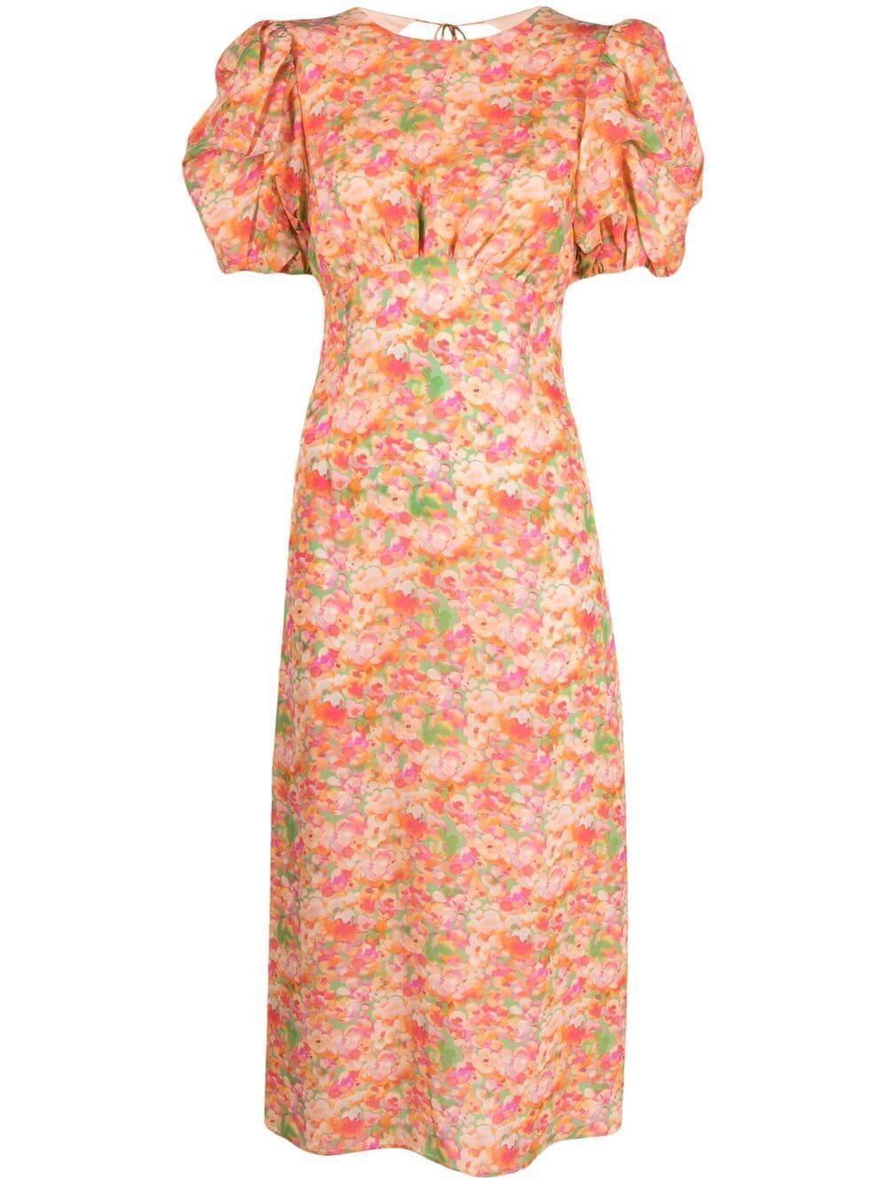 Gloria Printed Midi Dress Item # T090123B