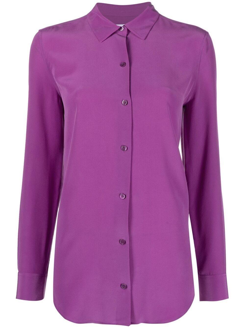Essential Button Front Blouse Item # 21-1-Q23-E900