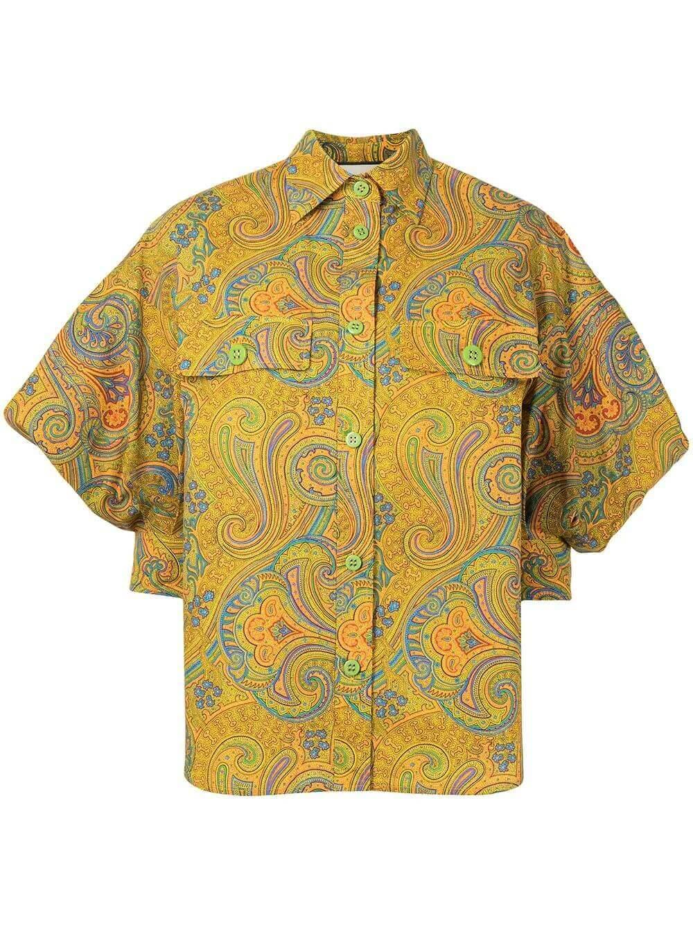 Berwyn Paisley Buttondown Top Item # A1210111-6983