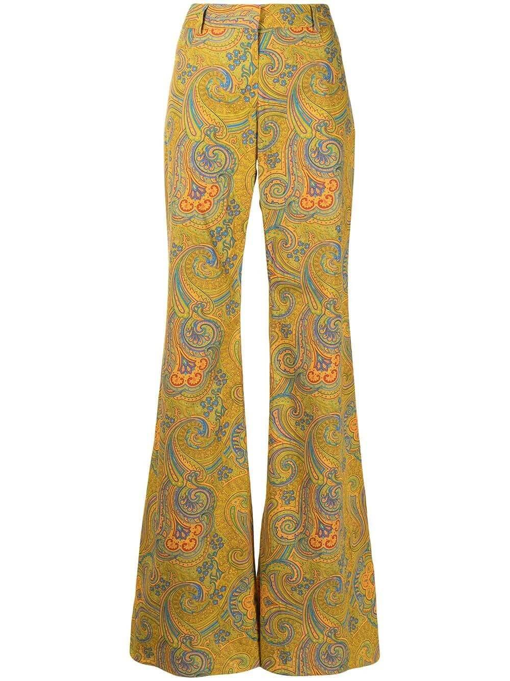 Salima Paisley Wide Leg Pants Item # A1210605-6986
