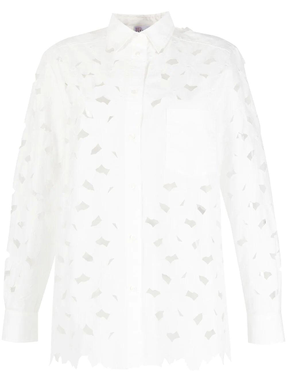 Floral Cutout Shirt Item # VR0AB03U5TB