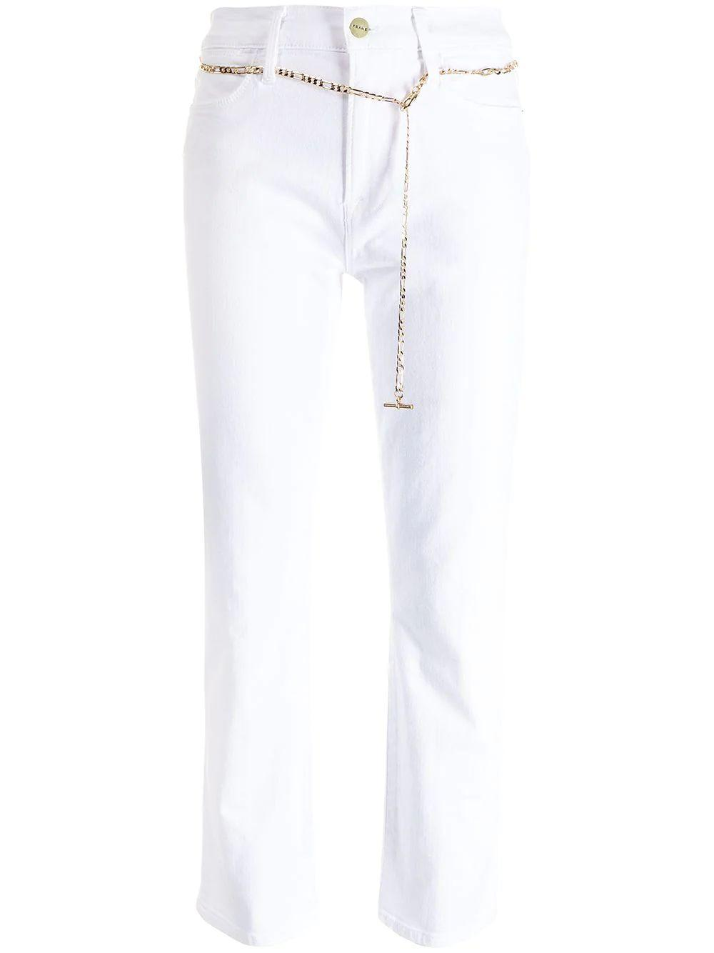 Le High Straight Leg With Chain Belt Item # LHSTCB790
