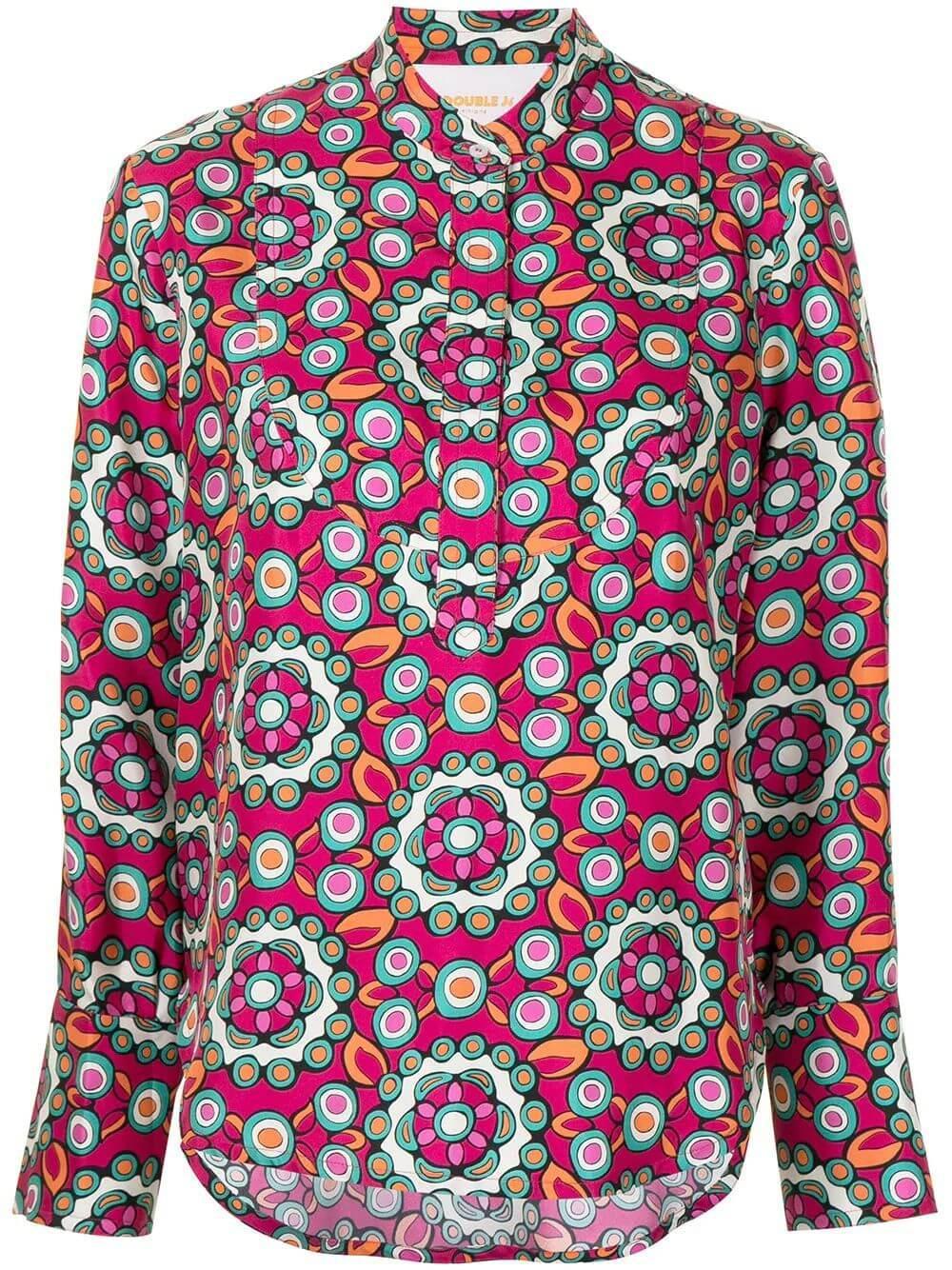 Portofino Printed Shirt Item # SHI0046-SIL001-S21