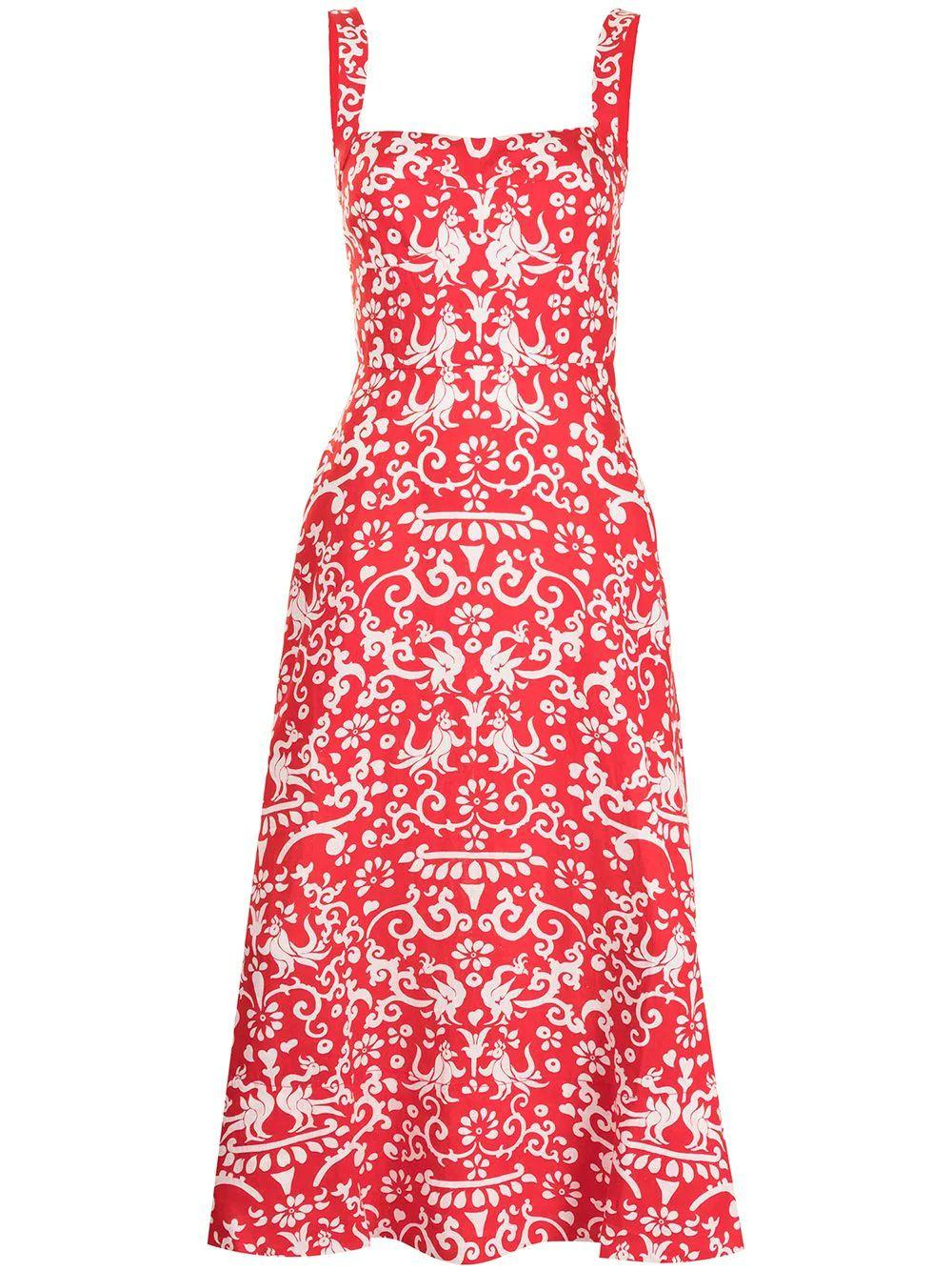 Rachel Flared Midi Dress