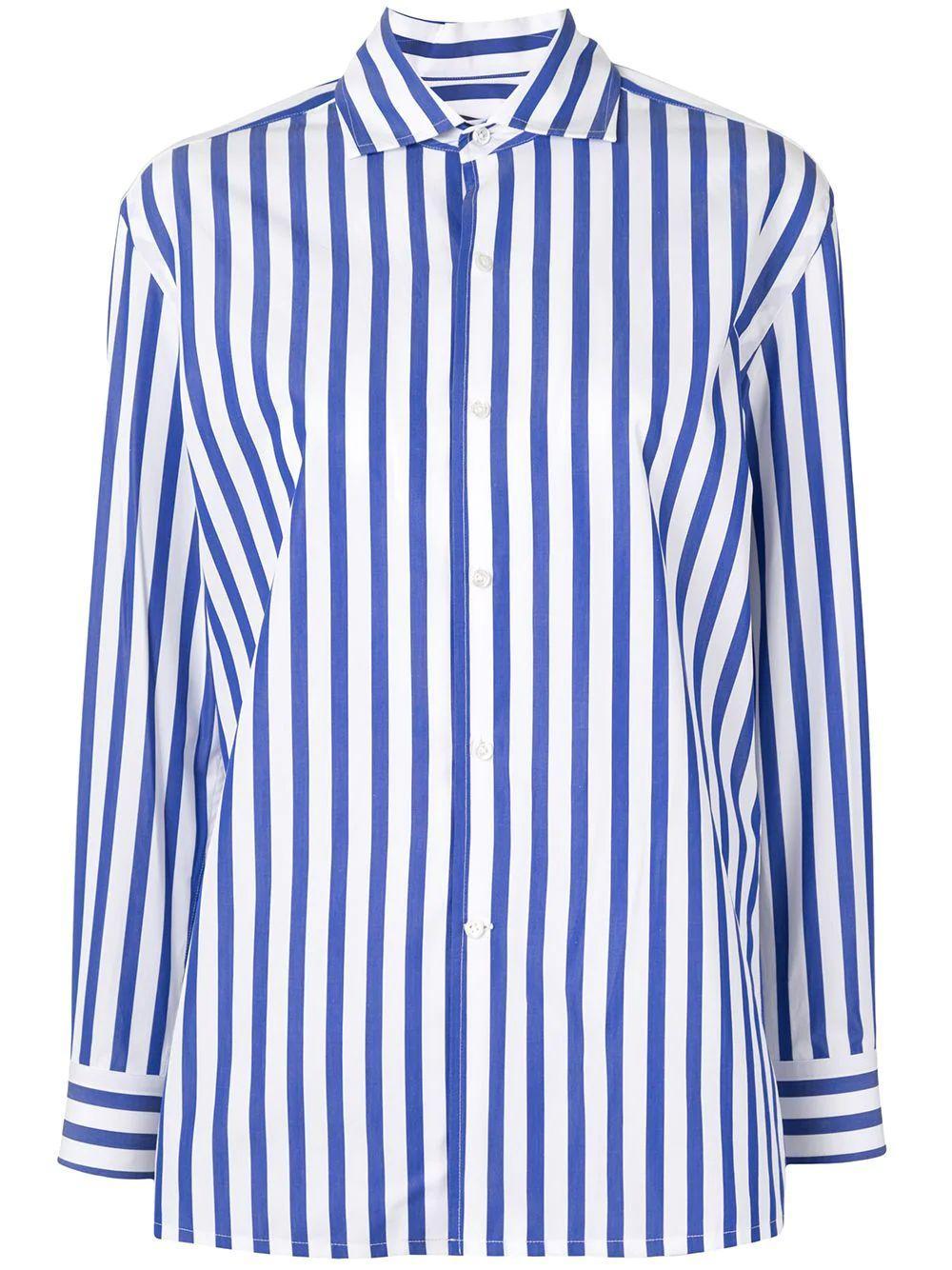Capri Stripe Button Down Shirt Item # 290649380001-S21