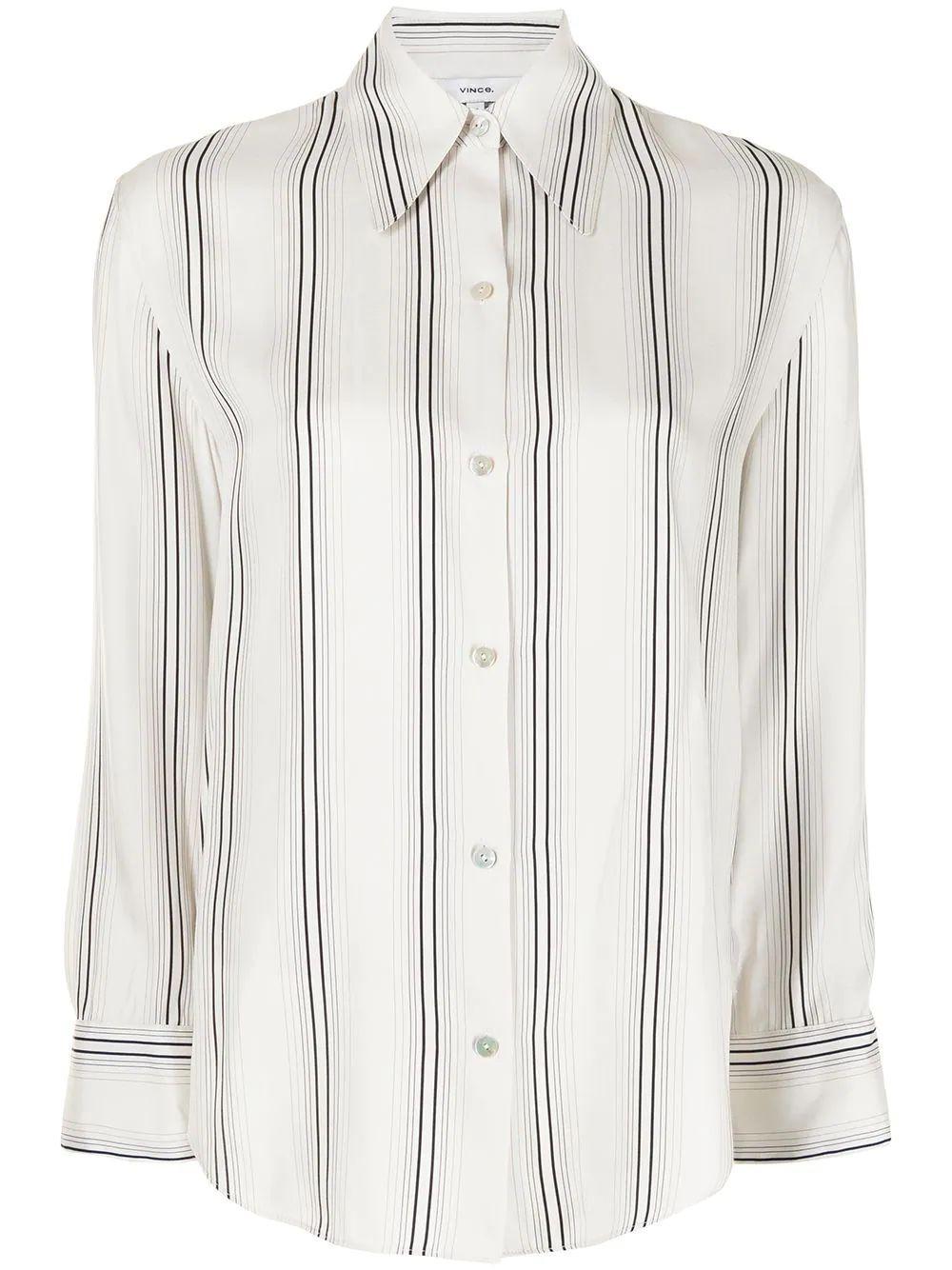 Striped Button Down Shirt Item # V729812324