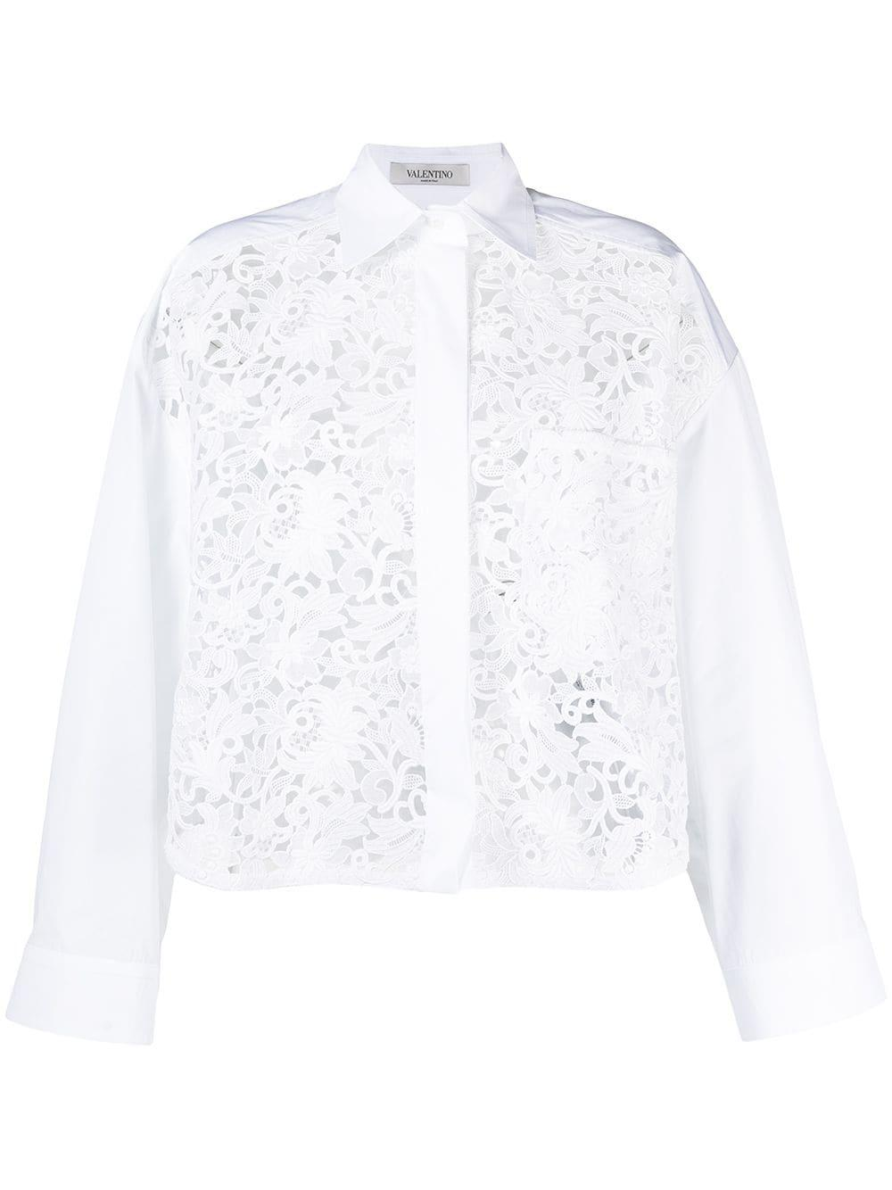 Floral Embroidered Shirt Item # VB0AB2B64HP