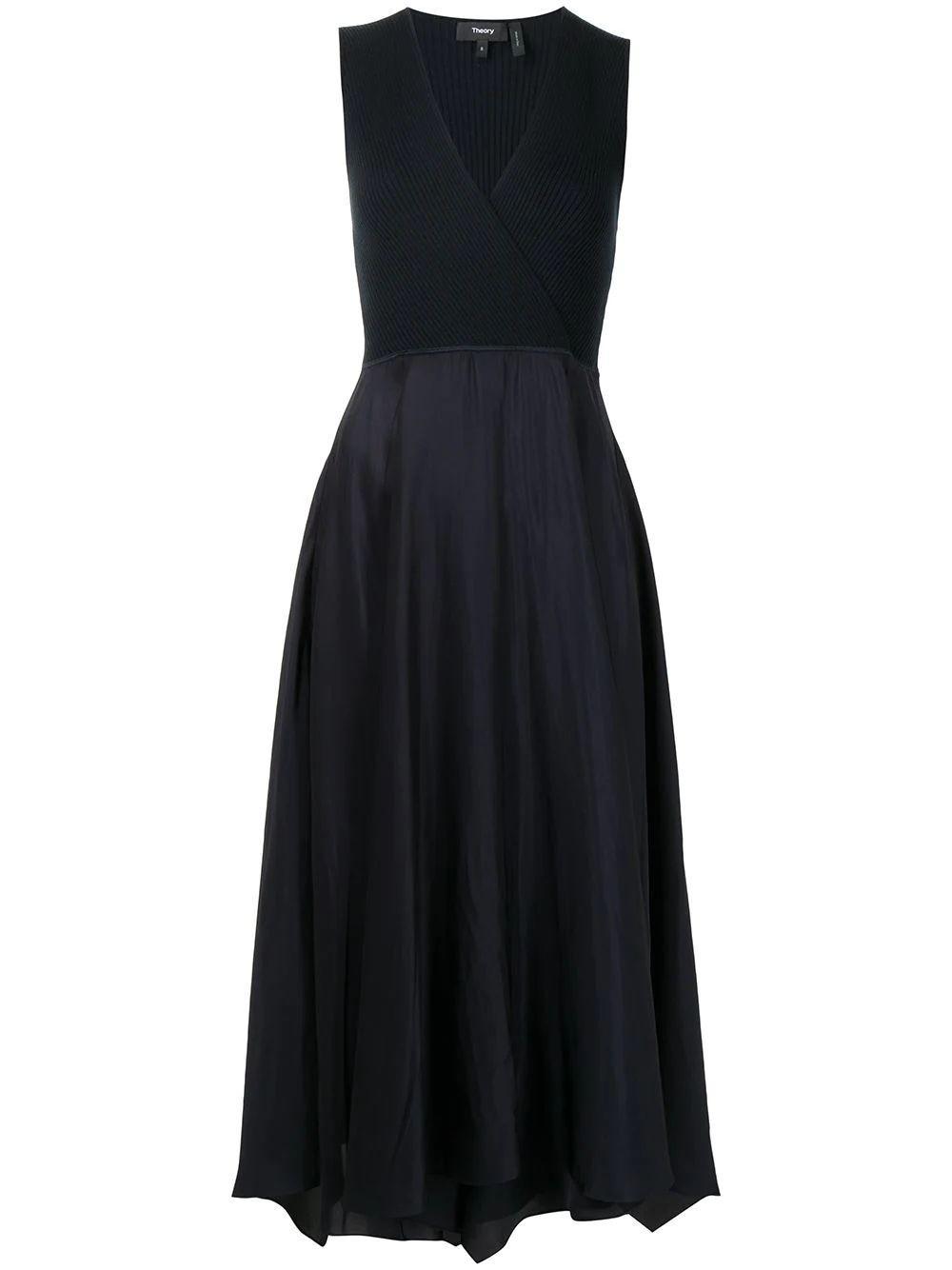 Rib Knit Bodice Dress Item # L0106621